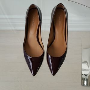 Calvin Klein Patent Pumps Burgundy US 8.5